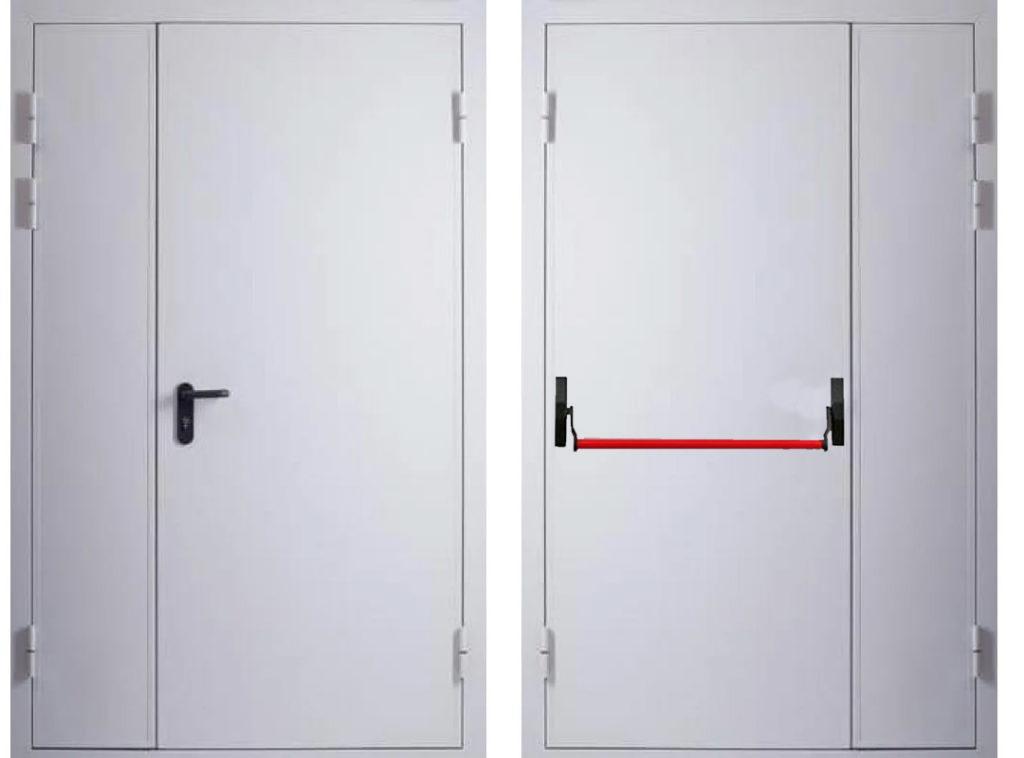 Дверь противопожарная EI60 двупольная с антипаникой