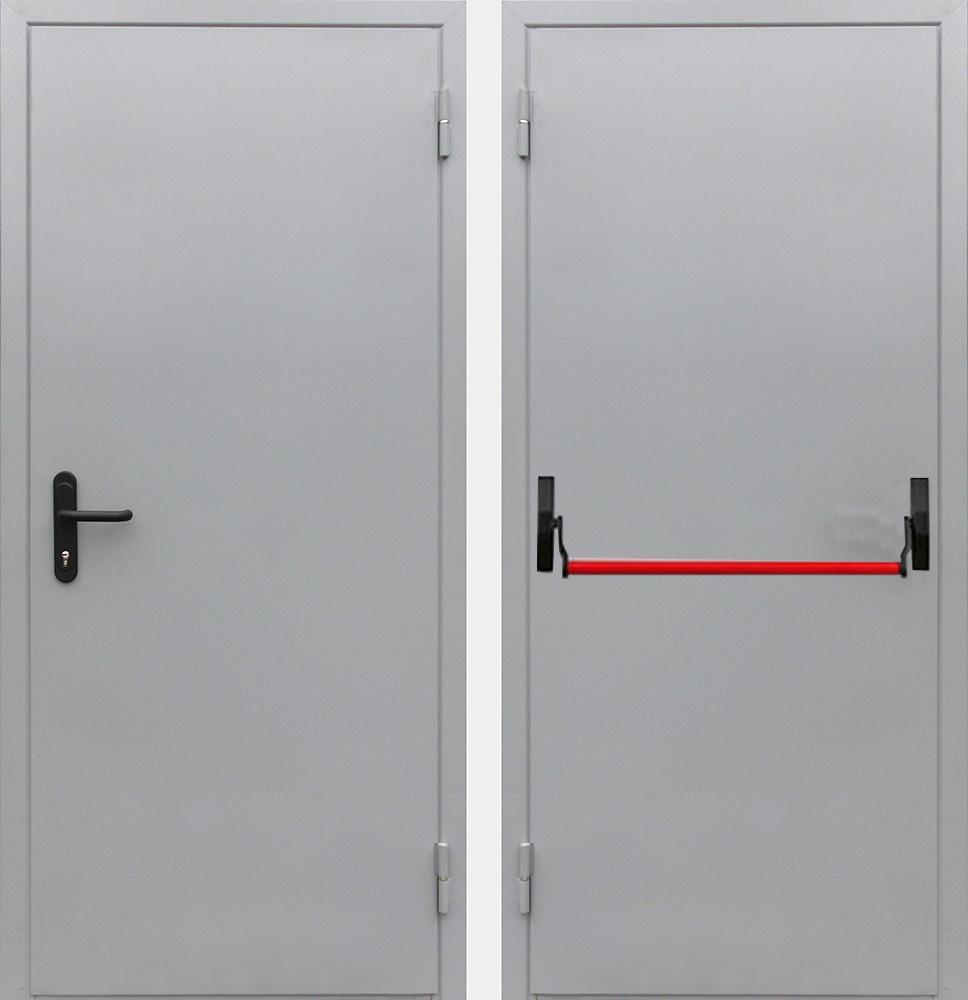 Дверь противопожарная EI60 однопольная с антипаникой